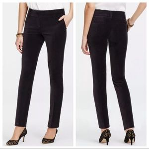 Ann Taylor | The Ankle Pant | Black Velvet